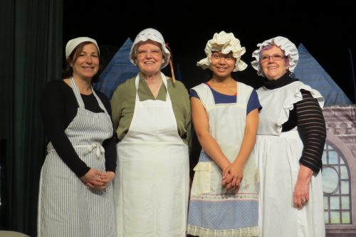 """Mrs. Patmore"" and her staff"