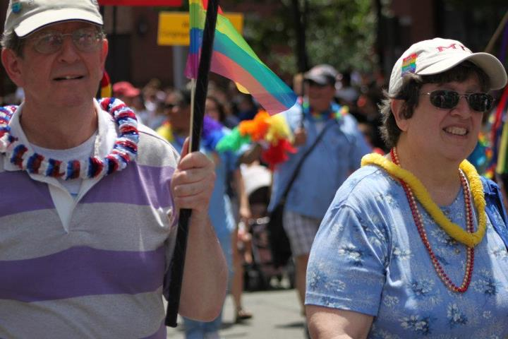 Members in the Boston Pride Parade 2012